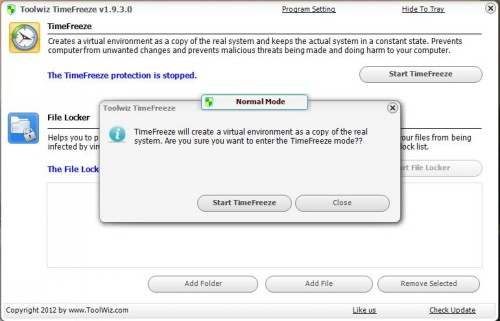 freeware, utilities, time freeze