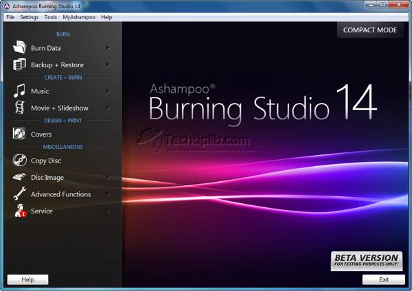 Ashampoo Burning Studio 14 screenshot