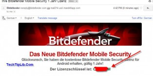 check email to get FREE license key of Bitdefender Mobile Security for Android 1 year-2-2014