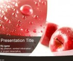Red Apple PowerPoint Template is FREE for downloading