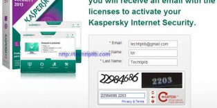 Register free 3 months of Kaspersky Internet Security 2013