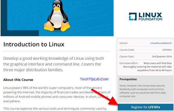 Register free Introduction to Linux for this summer