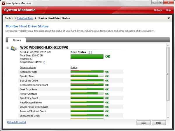 Screenshot of DriveSense - System mechanic