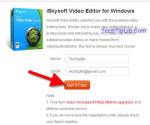 enter email to get free license key iSkysoft Video Editor for Windows march 2014