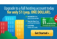 Netfirm: Upgrade Full Web Hosting for only $1/year!