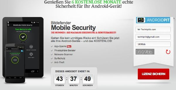 FREE 6 months of Bitdefender Mobile Security for Android 2