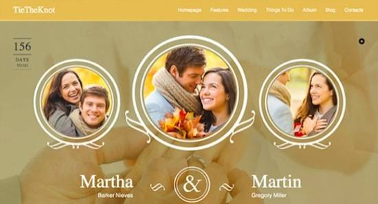 Wedding WordPress Theme No.4-TieTheKnot