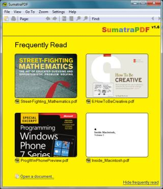 Sumatra PDF - the smallest PDF file viewer