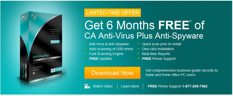 Free CA Anti-Virus Plus Anti-Spyware (giveaway)