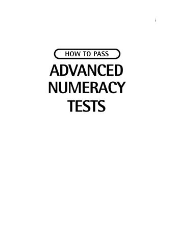 How to pass advanced numeracy Test-Free download eBook IQ Tests - Part 1