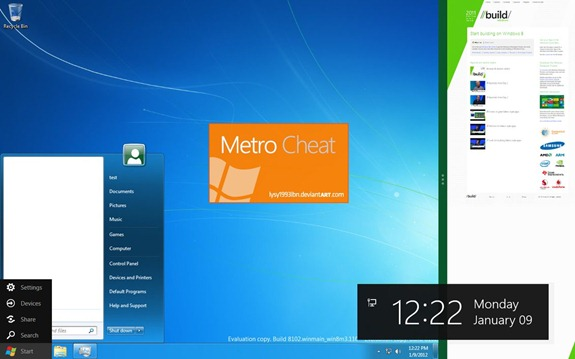 Enable Classic Start Menu in Windows 8 without Disabling Metro Features