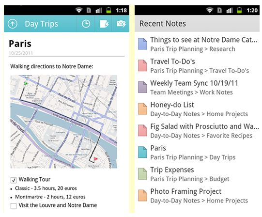 Free download OneNote for Android mobile 1