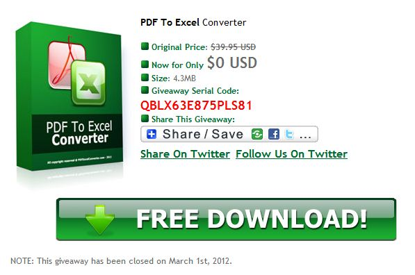 Licenses of PDF To Excel Converter
