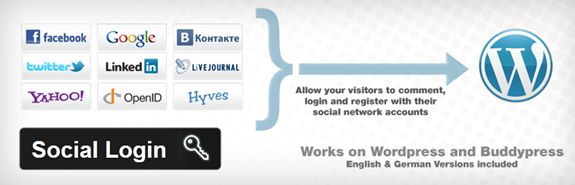 Social Login for WordPress Allows Commenting using Social Networks
