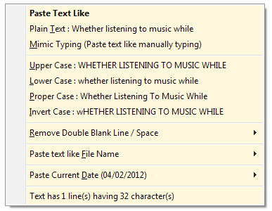 Paste Text Like: Change Format, Text Case