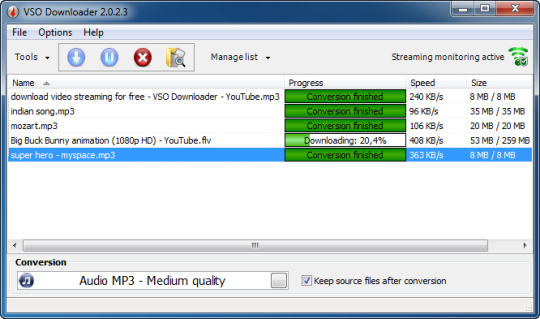 Free VSO Downloader auto download video from website