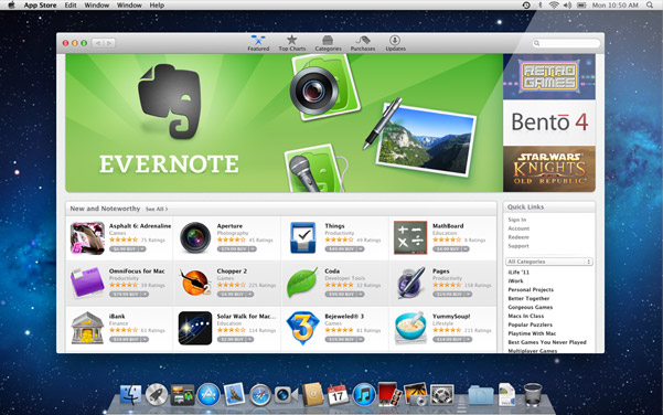 New feature of OS X 3