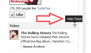 How to hide the Facebook Ticker (without a browser extension)