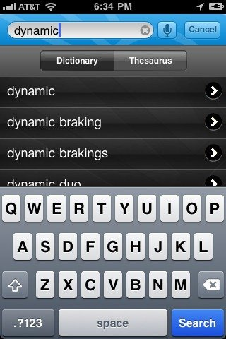 Free 4 dictionaries for iPhone from App Store