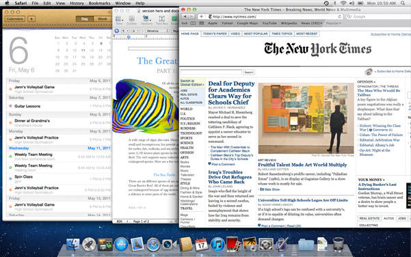 New feature of OS X 5