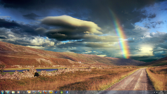 get Free Rainbow Theme for Windows 7