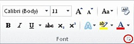 How to Change or set the default font