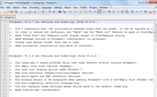 download Notepad++ 6.0.0