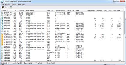 TCPView v3.05