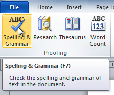 How to Checking Spelling and Grammar