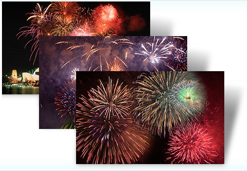 Fireworks theme for free