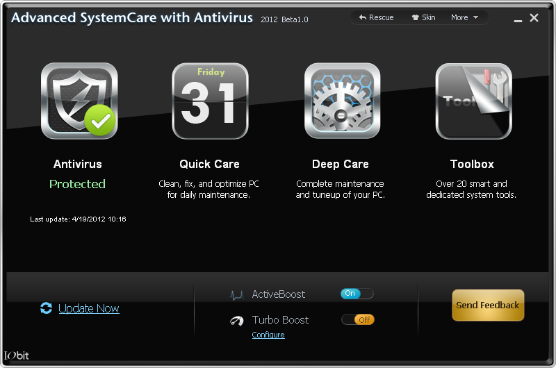 IObit Advanced SystemCare with Antivirus 2012 (v5.5) Beta 1