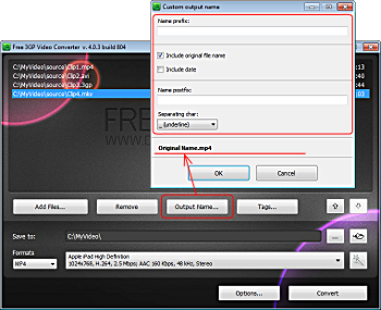 How to use Free 3GP Video Converter 3