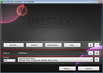 How to use Free 3GP Video Converter 4