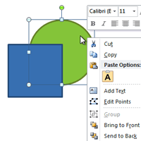 How to working with Shapes in word 2010