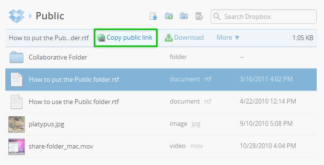 Dropbox folder 1