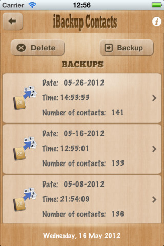 iBackup Contacts 2