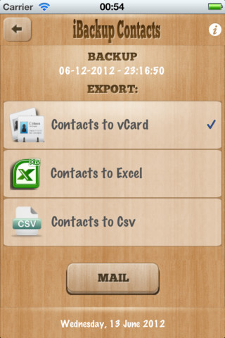iBackup Contacts 3