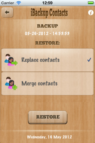 iBackup Contacts 4