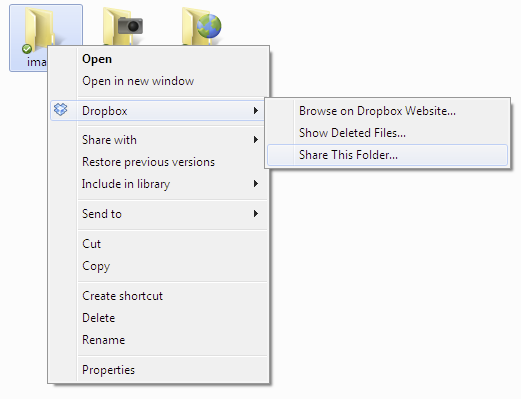 share folder on Dropbox 3