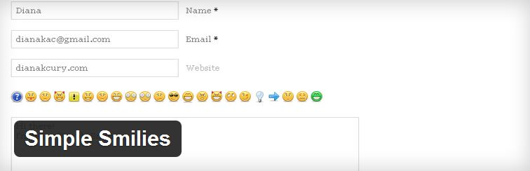 Simple Smilies, wordpress plugin, emotion plugin, tech tips, wordpress