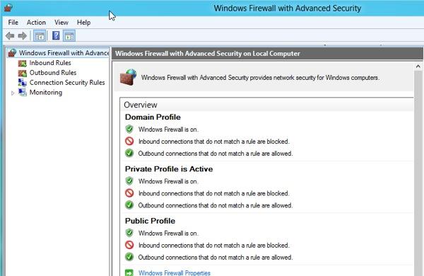Windows 8 Firewall 3