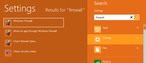 Windows 8 Firewall 6