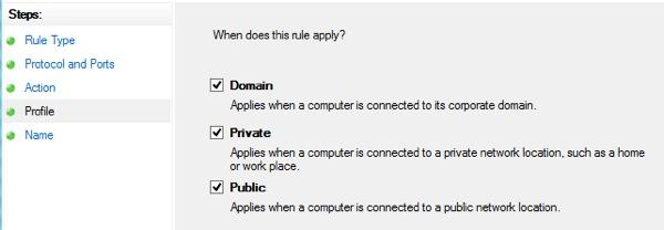 Windows 8 Firewall 10