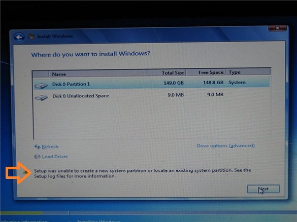 error, setup, system partition, tech tips, windows, Windows 7