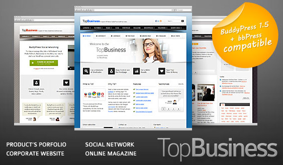 wordpress theme, giveaway, freebie, business theme, BuddyPress