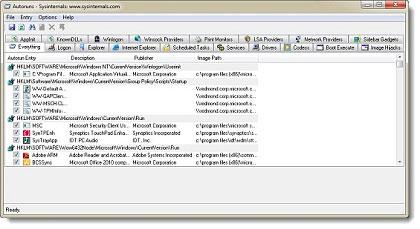 Autoruns for Windows, windows, utilities, freeware