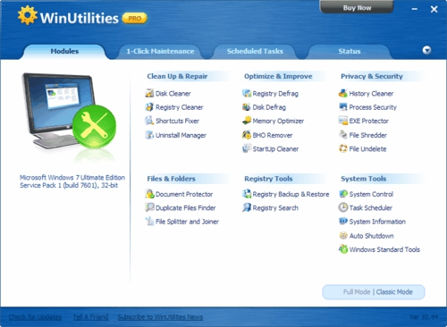 WinUtilities Pro, utilities, giveaway, optimize and speedup system