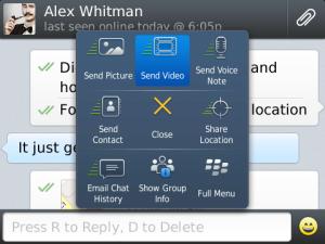 WhatsApp Messenger, blackberry, free apps, blackberry apps, chat, voice, send video