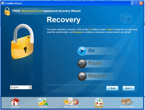 Free Word Excel Password Recovery Wizard, utilities, freeware, password recover, word, excel, office