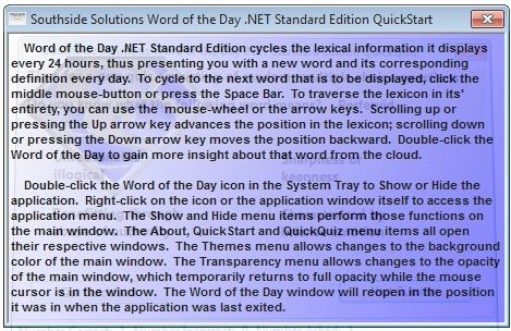 Southside Solutions Word of the Day 3, learning English, utilities, software
